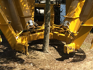 The open blades of the Model 54T nursery digger